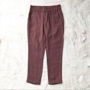GAP Mauve Stretch Waist Cropped Tapered Pants
